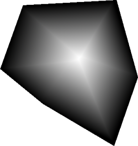 Distance field of a convex polygon