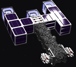 The laser weapons in the front demonstrate the effect of neighbor-sensitve sampling